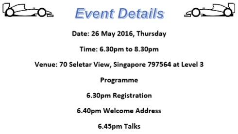 Event details 26 May 2016