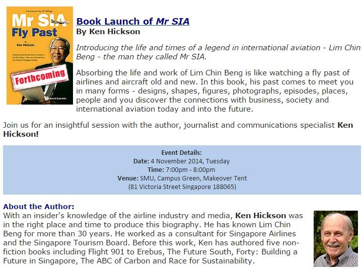 book launch Mr Sia