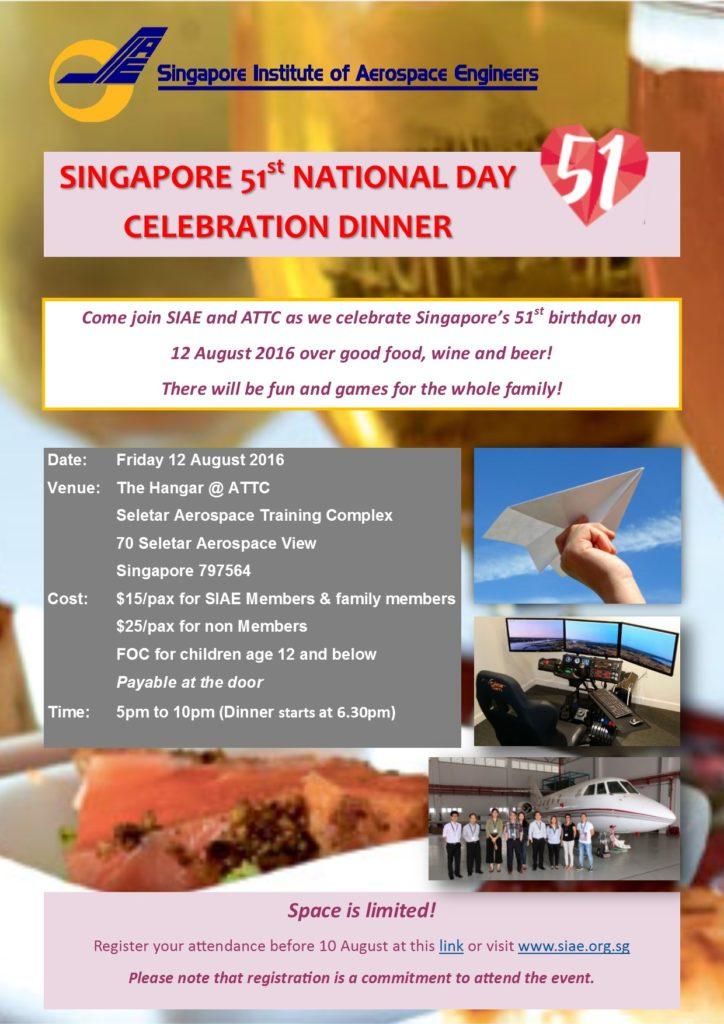 National Day Dinner 2016